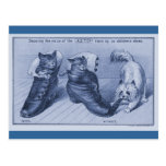 Cairn Terrier Pulling Cats Tail Postcard