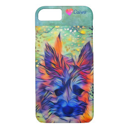 Cairn Terrier Puppy Dog Cute Colorful iPhone Case