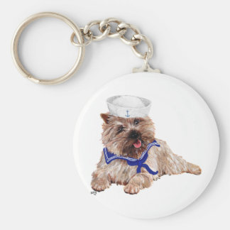 Cairn Terrier Sailor Keychain