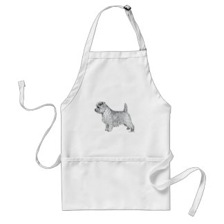 Cairn Terrier Side Adult Apron