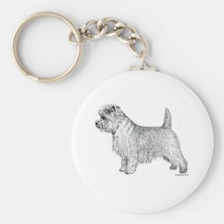 Cairn Terrier Side Keychain