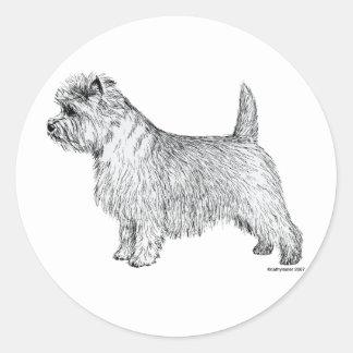 Cairn Terrier Side Round Sticker