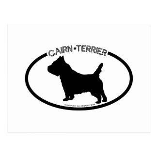 Cairn Terrier Silhouette Black Postcard