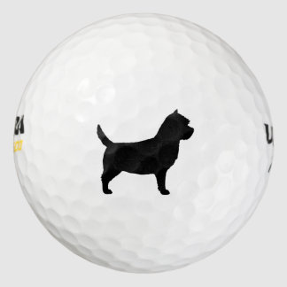 Cairn Terrier Silhouette Pack Of Golf Balls