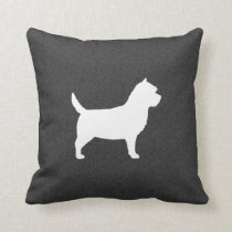 Cairn Terrier Silhouette Throw Pillow