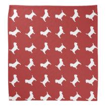 Cairn Terrier Silhouettes Pattern Bandana