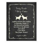 Cairn Terrier Silhouettes Wedding Card