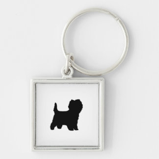 cairn terrier silo black.png keychain