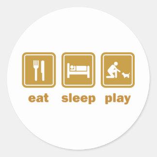 Cairn Terrier Round Stickers