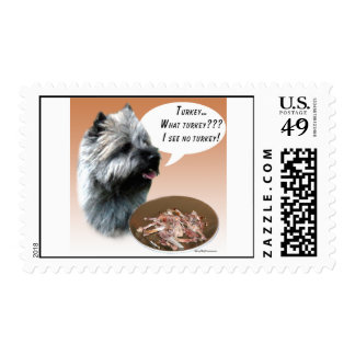 Cairn Terrier Turkey Stamp