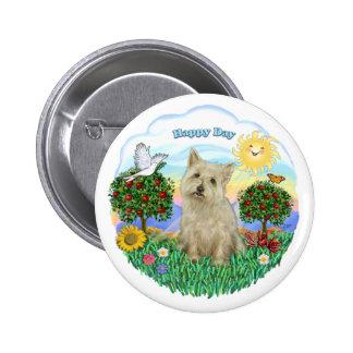 Cairn Terrier (wheaten) Pinback Button