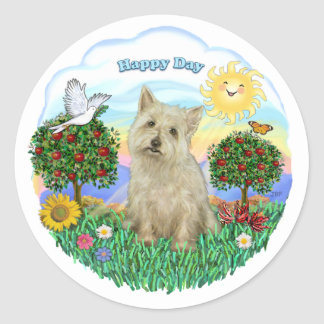 Cairn Terrier (wheaten) Classic Round Sticker