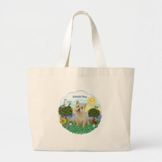 Cairn Terrier (wheaten) Large Tote Bag