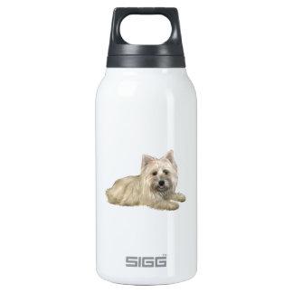Cairn Terrier (Wheaten) - lying down Insulated Water Bottle