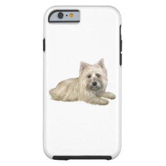 Cairn Terrier (Wheaten) - lying down Tough iPhone 6 Case