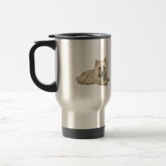 Cairn Terrier (Wheaten) - lying down Travel Mug