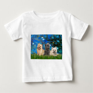 Cairn Terriers 4-13-21 - Lilies 3 Baby T-Shirt