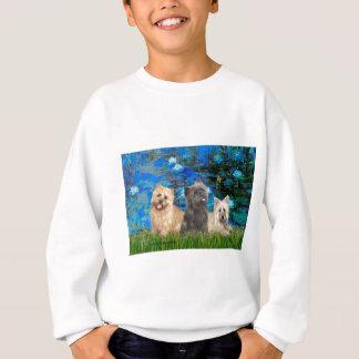 Cairn Terriers 4-13-21 - Lilies 3 Sweatshirt