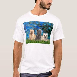 Cairn Terriers 4-13-21 - Lilies 3 T-Shirt