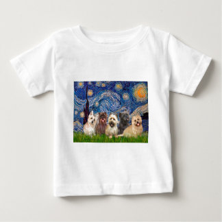 Cairn Terriers (Five) - Starry Night Baby T-Shirt