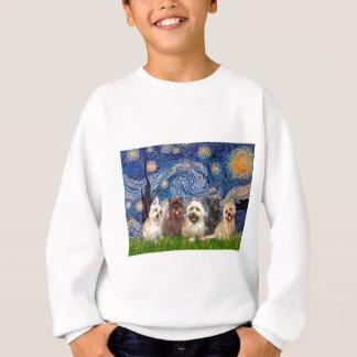 Cairn Terriers (Five) - Starry Night Sweatshirt
