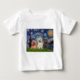 Cairn Terriers (three) - Starry Night Baby T-Shirt