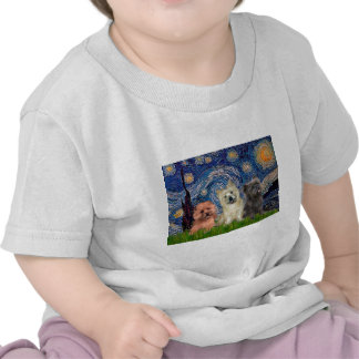 Cairn Terriers (three) - Starry Night T Shirts