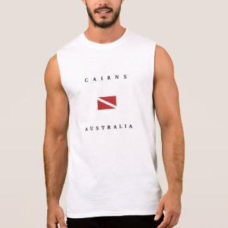 Cairns Australia Scuba Dive Flag Sleeveless Shirt