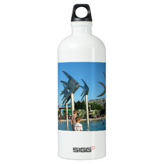 Cairns Australia Sculptures of  Fish Aluminum Water Bottle