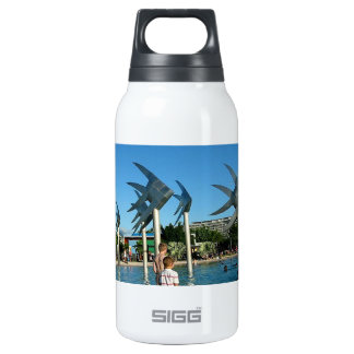 Cairns Australia Sculptures of  Fish Insulated Water Bottle