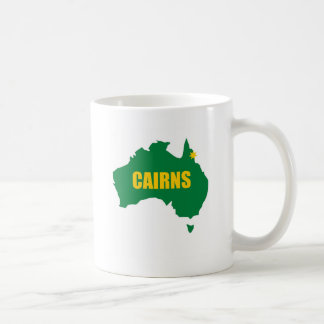 Cairns Green and Gold Map Coffee Mugs