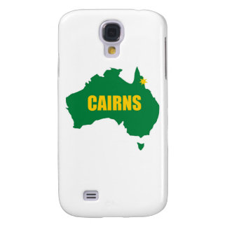 Cairns Green and Gold Map Samsung Galaxy S4 Case