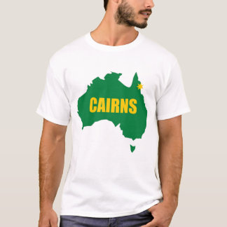 Cairns Green and Gold Map T-Shirt