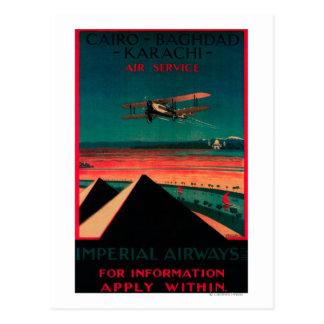 Cairo - Bagdad - Karachi Air Vintage Poster Post Cards