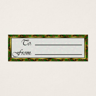 Cairo Christmas Bells Sm Any Color Gift Tag