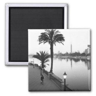 Cairo Egypt Along the Nile River Fridge Magnet