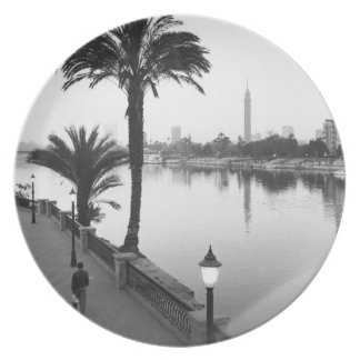 Cairo Egypt, Along the Nile River Party Plate