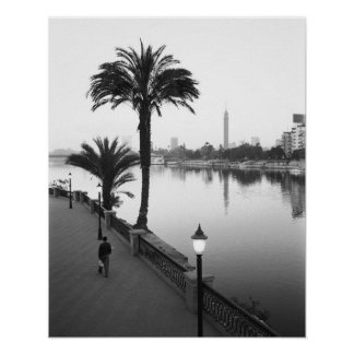 Cairo Egypt, Along the Nile River Poster