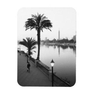 Cairo Egypt Along the Nile River Vinyl Magnets