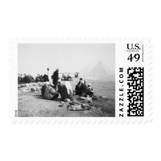 Cairo Egypt, Camel Jockeys Giza Pyramids (NR) 2 Postage