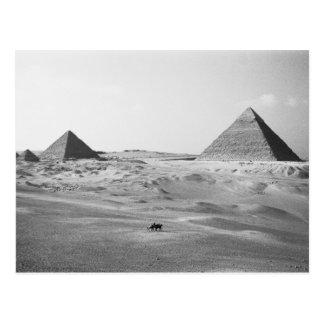 Cairo Egypt, Giza Pyramids Postcard
