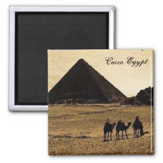 Cairo, Egypt 2 Inch Square Magnet
