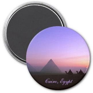Cairo, Egypt 3 Inch Round Magnet