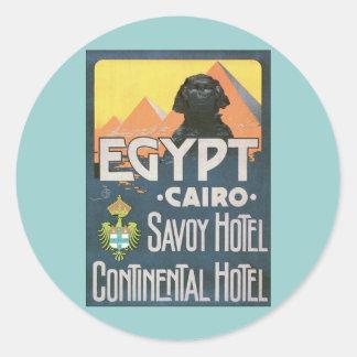 Cairo Egypt - Vintage travel poster art Classic Round Sticker