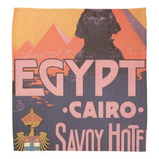 Cairo Egypt Vintage Travel Poster Bandana