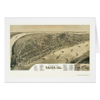 Cairo, IL Panoramic Map - 1888 Card
