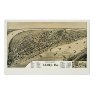 Cairo, IL Panoramic Map - 1888 Poster