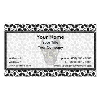 Cairo Lg Black Skulls Business Card