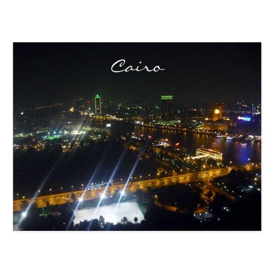cairo lights night postcard