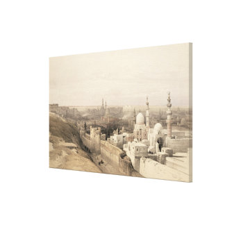 """Cairo looking West, from """"Egypt and Nubia"""", Vol.3 Canvas Print"""